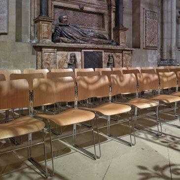 Row of 40/4 Church Chairs in a Canterbury Church