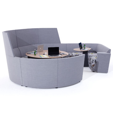 Away from the desk circular hub and extension
