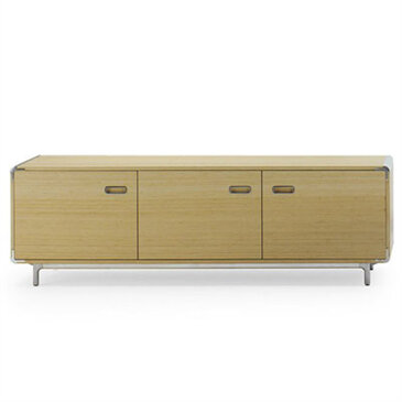 Wooden Extens credenza cupboard in a white room