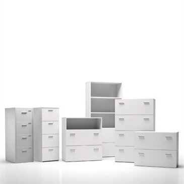 White F25 Storage solutions in a white room