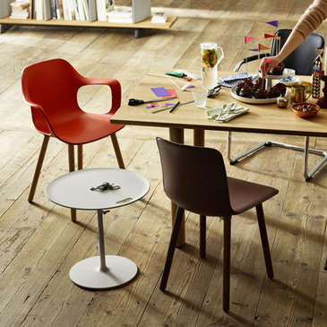 Hal Rise Table in Wood, designed by Jasper Morrison for Vitra.