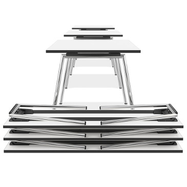Lacrosse folding tables in white by Casala