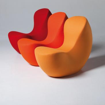 LaCividina Nautile armchair red orange yellow