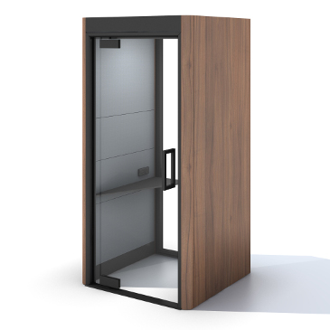 Oasis Linear phone booth in walnut