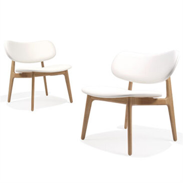 Wooden cropped PLC lounge chair