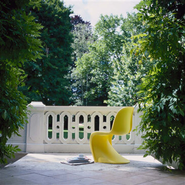 Flexible Plastic Panton Chair in yellow