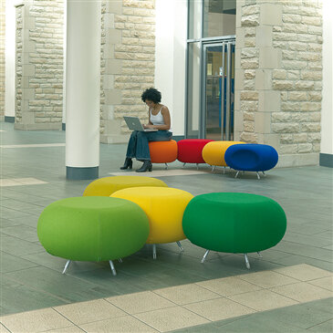 Pebble Seating - collation of colours