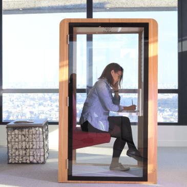 SBS Seat Box pod in wood finish