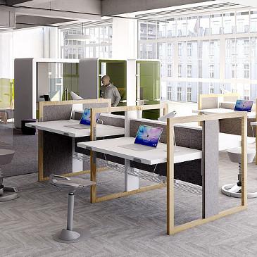 Stand Up R wood framed height adjustable desk