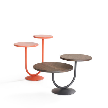 Artifort Twin tables high in orange and low in brown
