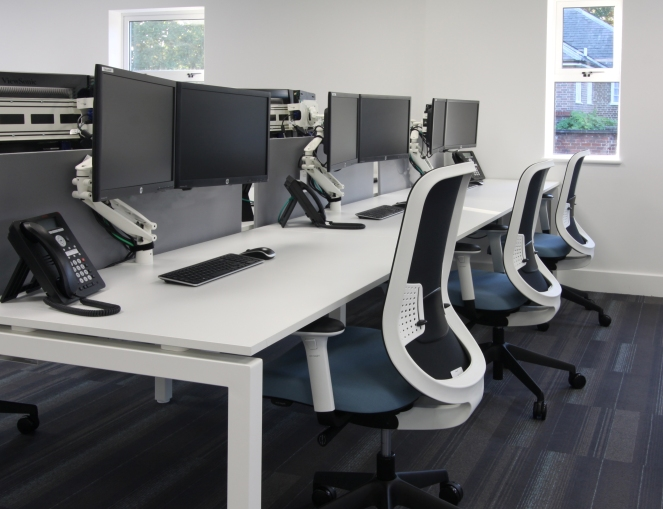 F25 desks and Do task chairs