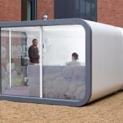 Meeting room pod for outdoors
