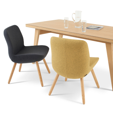 Hitch Mylius hm82 Edith chairs with James Burleigh Osprey Table