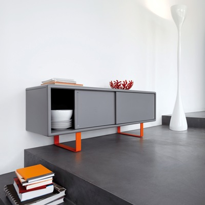 S1 credenza grey and orange