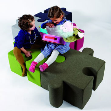Buzzispace KidzPuzzle seating, in multicolour.
