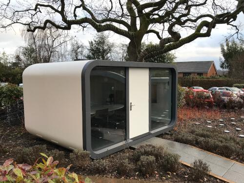 St Lukes Hospice Outdoor Office Pod