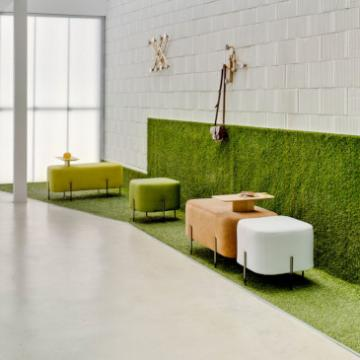 Sancal Elephant poufs green pink and white