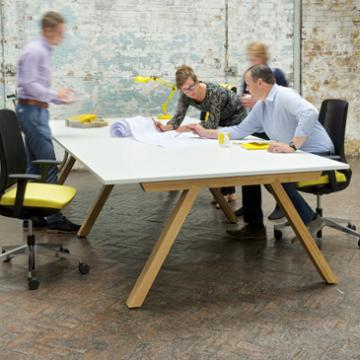 Zee bench desk with white MFC top