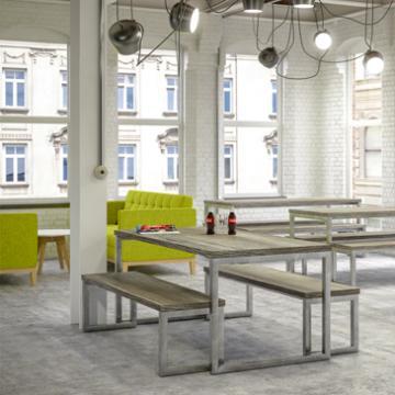 Block Steel Rustic Table