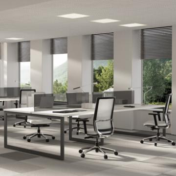 V30 desk range with graphite leg