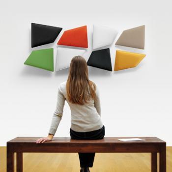 Flap acoustic panelling
