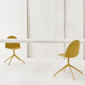 Segis Camel chairs yellow four star legs