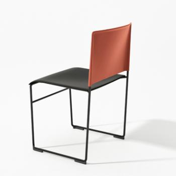 Arper Stacy chair two-tone red and black