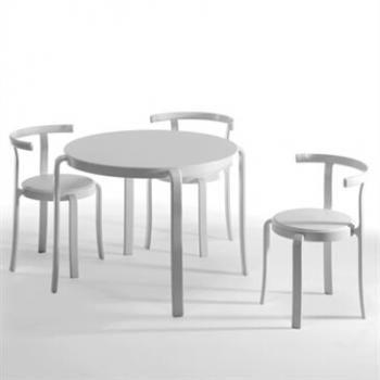 White 8000 stacking cafe table and chairs