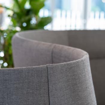 Boss Design ATOM breakout seating in grey detail