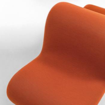 LaCividina Dos a Dos orange lounge seat detail