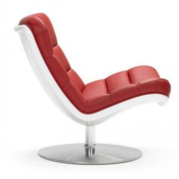 Red F978 chair on a white background