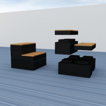 Giant Morph Tiered seating exploded