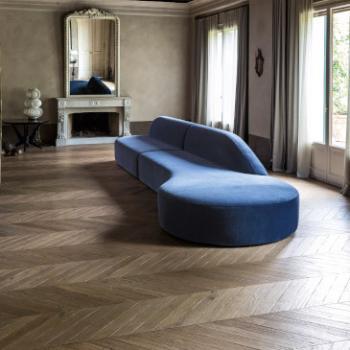 LaCividina Guest blue velvet sofa