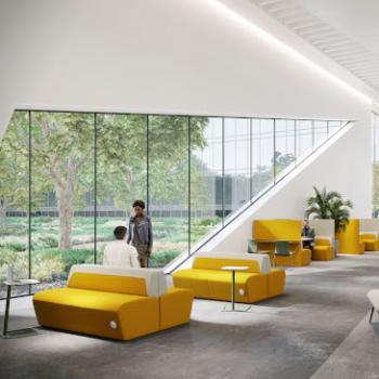Boss Hemm lounge seating in yellow