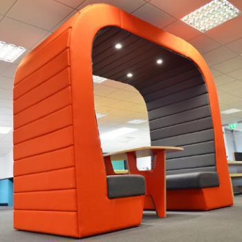 Senator Hub pod with orange exterior