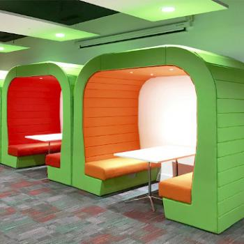 Lime Green Hub units with assorted interiors