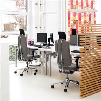 Vitra Headline Chair in office with grey finish