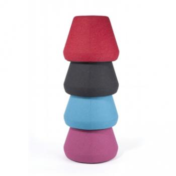 Hyde stacking upholstered stools