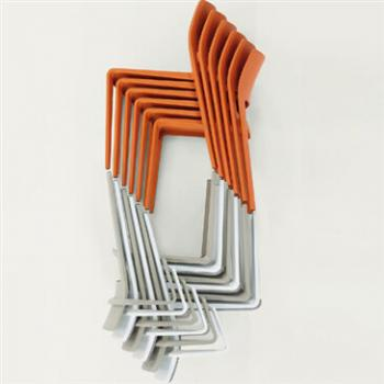 Stacking Juno Chairs in Orange