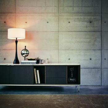 Black Florence Knoll low credenza