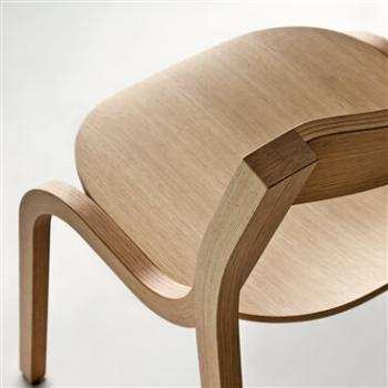 Konrad chair in blanched oak from Lapalma designed by Andersson & Voll.