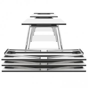 Lacrosse folding tables in white by Casala