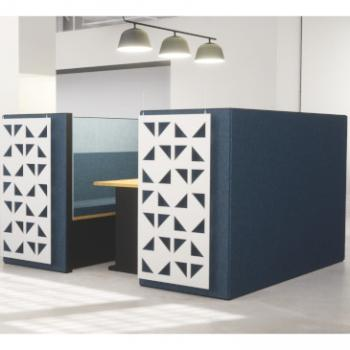 Morph meeting bay with double acoustic cladding
