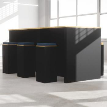 Morph high table and stools