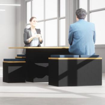 Giant Morph Picnic table and GM stools