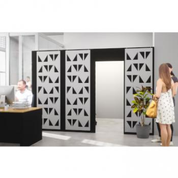 Morph walls with patterned acoustic panels