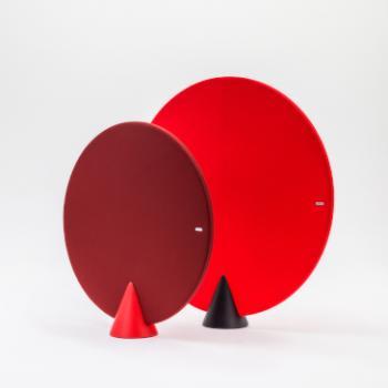 Circular cone screens in Reds