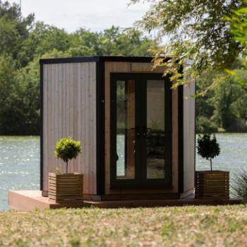 Hyve 100 outdoor pod hexagonal