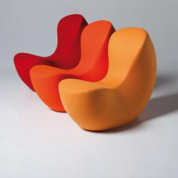 LaCividina Nautile armchair red orange yellow
