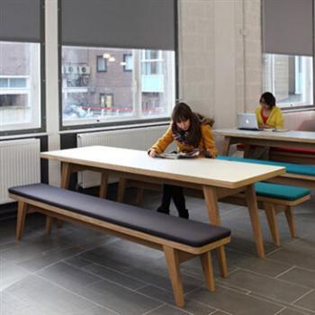 Cream Osprey School bench table